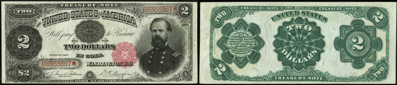 Series 1891 $2.00 Treasury Note