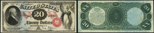 1878 Twenty Dollar Bill Legal Tender Note