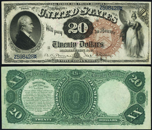 1880 Twenty Dollar Bill Legal Tender Note