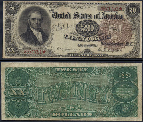 1890 Twenty Dollar Bill Treasury Note