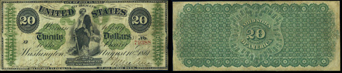 1861 Twenty Dollar Bill Demand Note