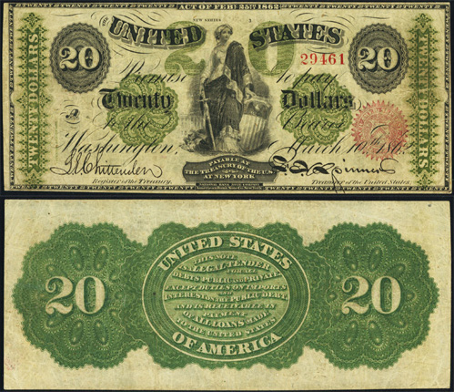 1862 Twenty Dollar Bill Legal Tender Note