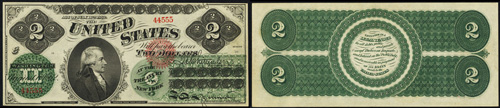1862 Two Dollar Bill Legal Tender Note