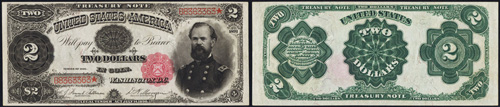 1891 Two Dollar Bill Treasury Note